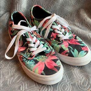 Vans tropical floral Hawaiian flower skate shoes